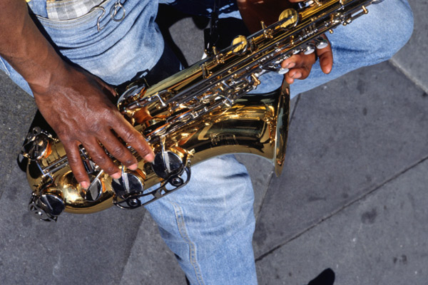 Sax player, New Orleans