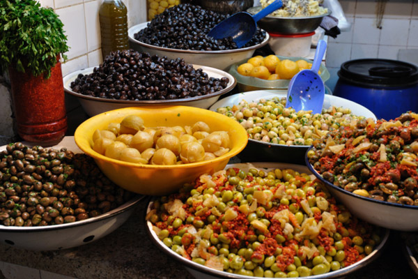 Olives and dates