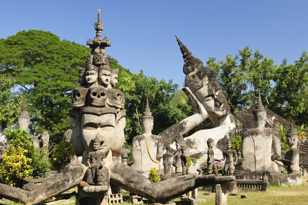 the ancient centre of Vientiane