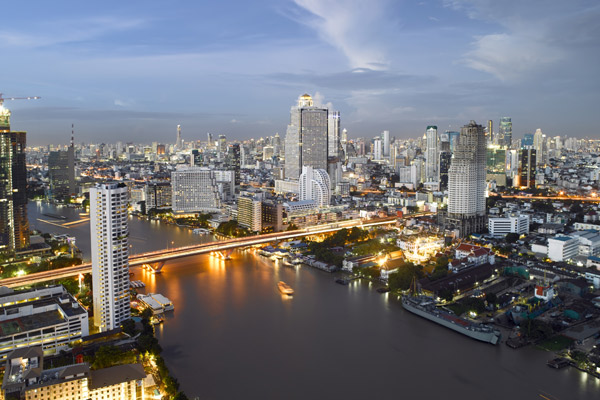 Bangkok overlooking the Chao Phraya River