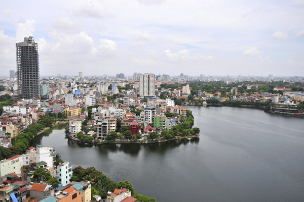 Hanoi Harbour and cityscape