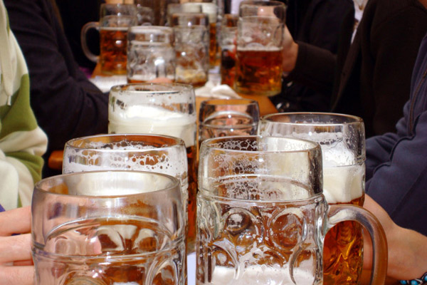 Beer steins in Munich