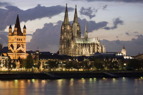 Cologne Cathedral from river